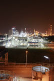 Chemical industrial area on night Stock Photos
