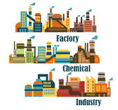 Chemical and industrial factories Royalty Free Stock Photos