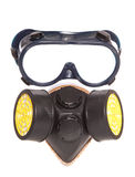 Chemical Industrial Gas Mask And Goggles Royalty Free Stock Images