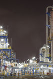 Chemical industrial plant in night time Royalty Free Stock Image
