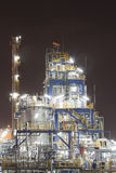 Chemical industrial plant in night time Stock Photos