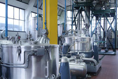 Chemical industry. Internal view of chemical industry with iron tank Stock Image