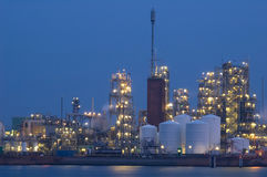Chemical industry. An chemical industry in the evening Stock Photo