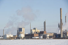 Chemical Industry Building in winter Stock Images
