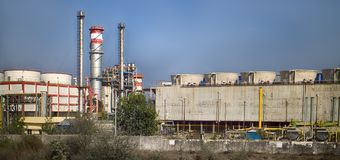 India. Refinery. Chemical industry. Chemical company in India. Refinery. Evidence of indian economic growth, GDP growth Stock Photography