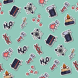 Chemical industry concept icons pattern Stock Photos