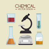Chemical industry design Stock Images