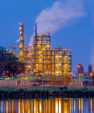 Chemical industry in the evening Stock Images