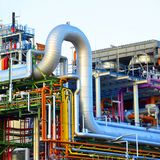 Chemical industry - factory for the manufacture of chemical prod royalty free stock image