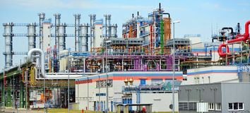 Chemical industry - factory for the manufacture of chemical prod royalty free stock photos