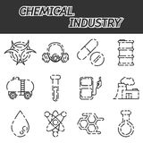 Chemical industry icon set Royalty Free Stock Photo