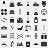 Chemical industry icons set, simple style. Chemical industry icons set. Simple style of 36 chemical industry vector icons for web for any design royalty free illustration