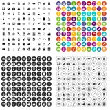 100 chemical industry icons set vector variant. 100 chemical industry icons set vector in 4 variant for any web design isolated on white stock illustration