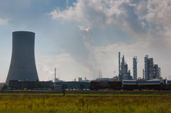 Chemical industry near Antwerp in Belgium Stock Photos