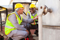 Chemical industry technicians Stock Photos