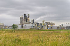 Chemical installation in the middle of nature. High dynamic range impression of a chemical production facility Stock Photography