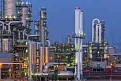 chemical installationsnatt royaltyfri fotografi