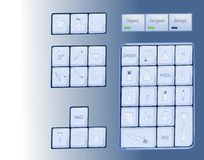 Chemical keyboard Royalty Free Stock Photography