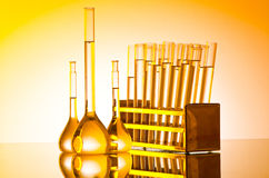 Chemical lab - glass tubing Stock Image