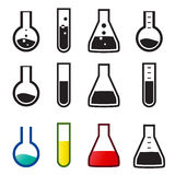 Chemical and lab icons, Vector Stock Photo