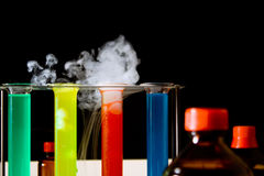 Chemical lab scene Stock Photos