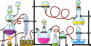 chemical laboratorium royaltyfri illustrationer
