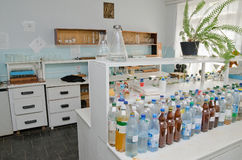 chemical laboratorium Arkivfoto