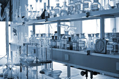 chemical laboratorium Royaltyfria Foton