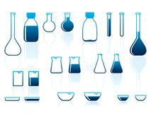 chemical laboratoriumware royaltyfri illustrationer