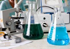 Chemical laboratory Royalty Free Stock Photo