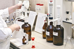 Chemical laboratory Royalty Free Stock Image