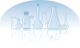 Chemical laboratory background Stock Photos