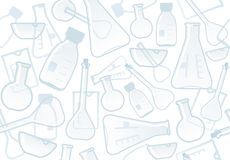 Chemical laboratory background Royalty Free Stock Photos
