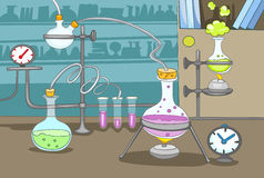 Chemical Laboratory royalty free illustration