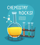 Chemical Laboratory Cartoon Concept Stock Image