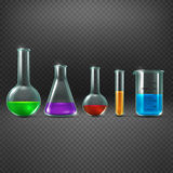 Chemical laboratory with chemicals in test tube equipments vector illustration Royalty Free Stock Photography