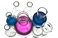 Chemical laboratory equipment isolated Royalty Free Stock Image