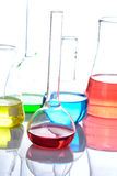Chemical laboratory flask Stock Photos