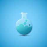 Chemical laboratory flask Royalty Free Stock Photos