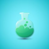 Chemical laboratory flask Stock Image