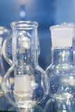 Chemical laboratory glassware. Abstract background. Royalty Free Stock Photos