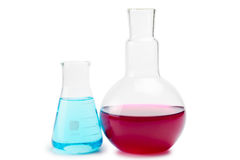 Chemical laboratory glassware equipment Stock Photos