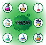 Chemical laboratory glassware Stock Photography