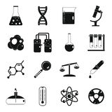 Chemical laboratory icons set, simple style Stock Photography