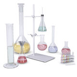 Chemical laboratory. Isolated render on a white background Royalty Free Stock Photo