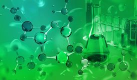 Chemical laboratory. Molecular research in modern science stock photos