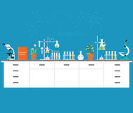 Chemical laboratory science and technology. Chemical laboratory science and technology, Scientists workplace concept. Science education, chemistry, experiment