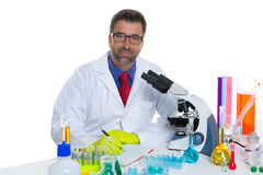 Chemical laboratory scientist man working portrait Royalty Free Stock Photography