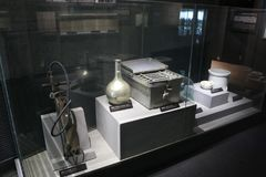 Chemical laboratory tools,the 731 Japanese troops evidence Museum. Chemical laboratory tools, The 731 Japanese troops evidence Museum in Harbin China, royalty free stock photo