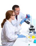 Chemical laboratory with two scientist working Stock Photography